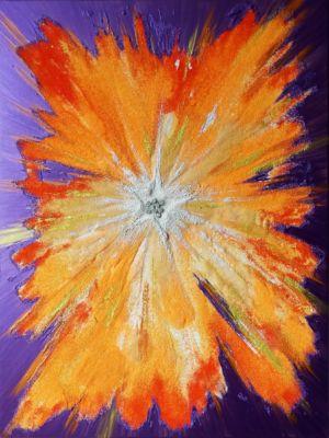 ,, Light of a white star ,, (canvas, acrylic, peosque) 60х80