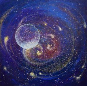 ,,Phantom Planet,, (acrylic On Canvas) 70x70