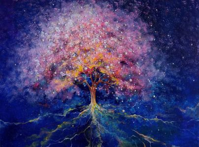 ,,The Power Of The Creator ,, (canvas, Acrylic, Outline) 80х60